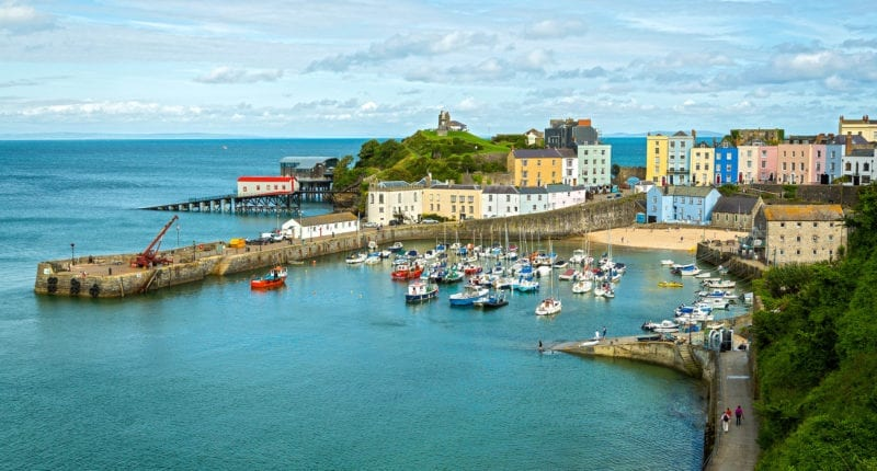 Tenby on the Pembrokeshire Coastal Path