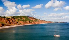 Views along the Jurassic Coast in Devon