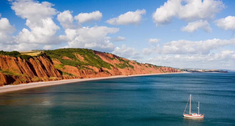 Views along the Jurassic Coast in Devon