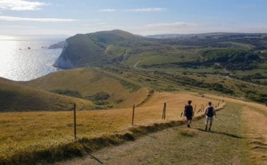 Walkers on the South West Coast Path