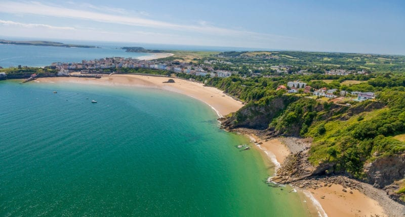 Aerial view of Tenby from the north