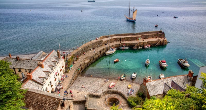 Clovelly Harbour on the South West Coast Path