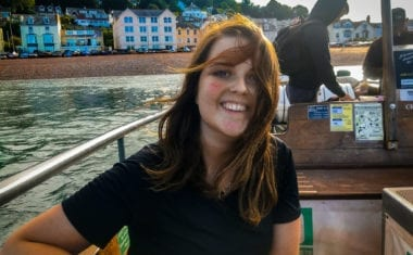 Fern from Absolute Escapes on a ferry from Salcombe