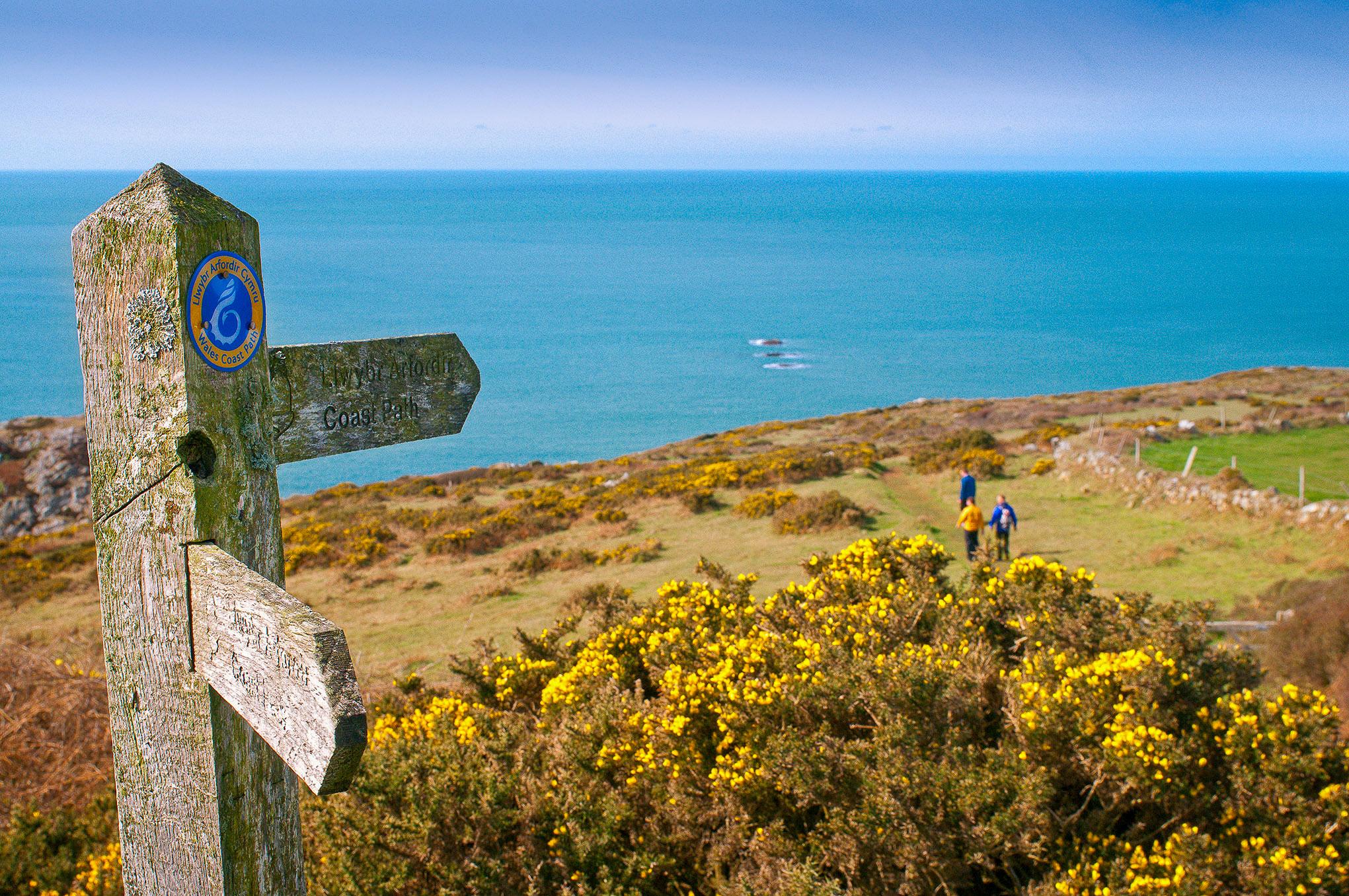 Pembrokeshire Coast Path signpost