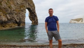 Scott from Absolute Escapes at Durdle Door