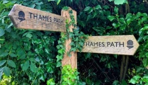 Thames Path waymarkers