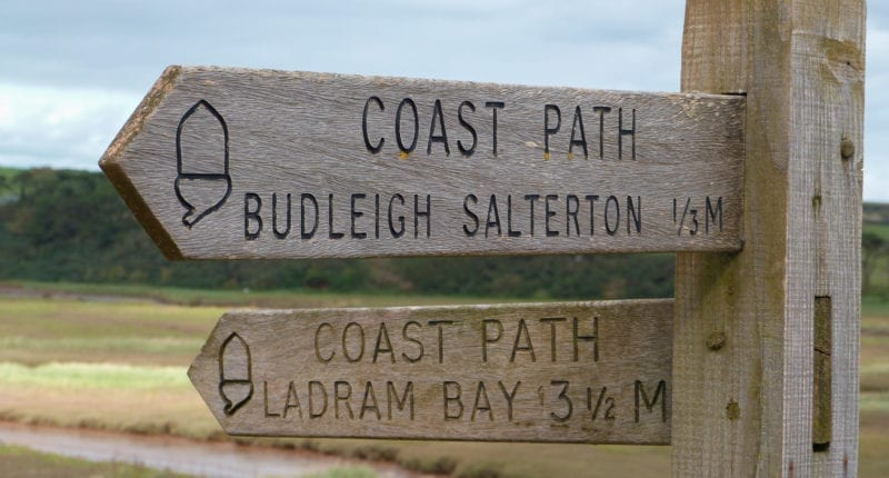 Waymarking on the South West Coast Path