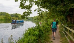 Riverside walking on the Ridgeway