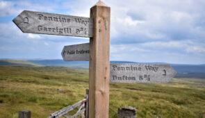 Signpost on the Pennine Way