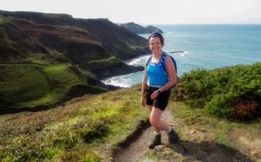 Caitlin from Absolute Escapes walking from Bude to Boscastle