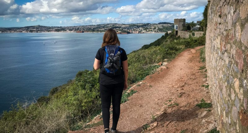 Fern from Absolute Escapes walking from Teignmouth to Paignton