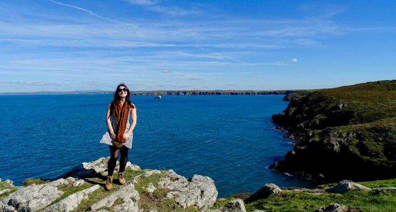 Katia from Absolute Escapes on the Pembrokshire Coastal Path