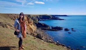 Katia from the Absolute Escapes team on the Pembrokeshire Coastal Path