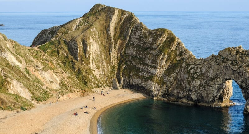 The iconic Durdle Door on the Jurassic Coast