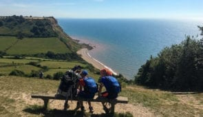Hikers between Sidmouth and Beer