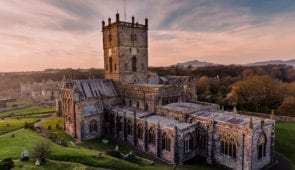 St David's Cathedral at sunset
