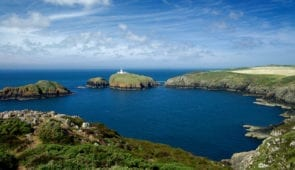 Strumble Head Lighthouse on the Pembrokeshire Coast Path