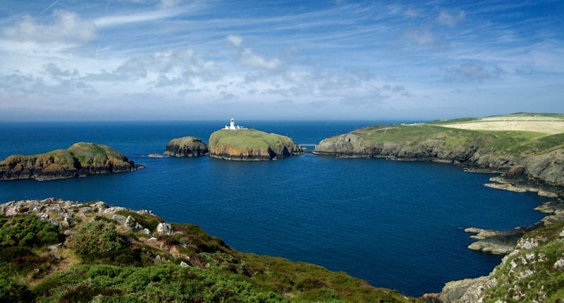 Strumble Head Lighthouse on the Pembrokeshire Coast Path