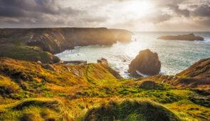 Sunset views across Cornwall