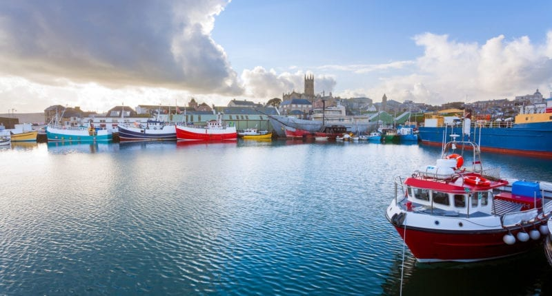 Boats at Penzance harbour