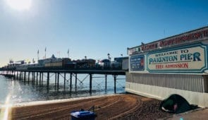 Iconic Paignton Pier on the South West Coast Path