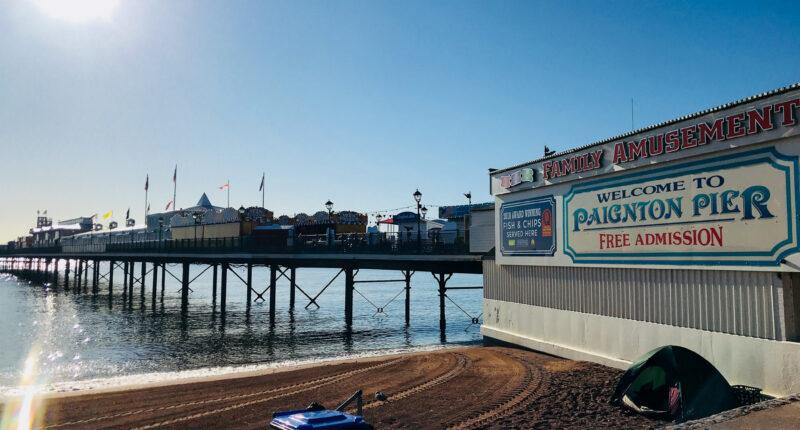 Iconic Paignton Pier on the South West Coast Path