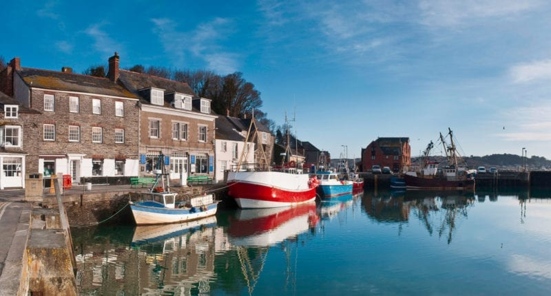 Peaceful Padstow harbour