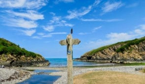 Signpost on the Pembrokeshire Coast Path