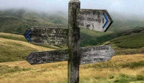 Signs before Windy Gyle