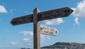 South West Coast Path waymarker