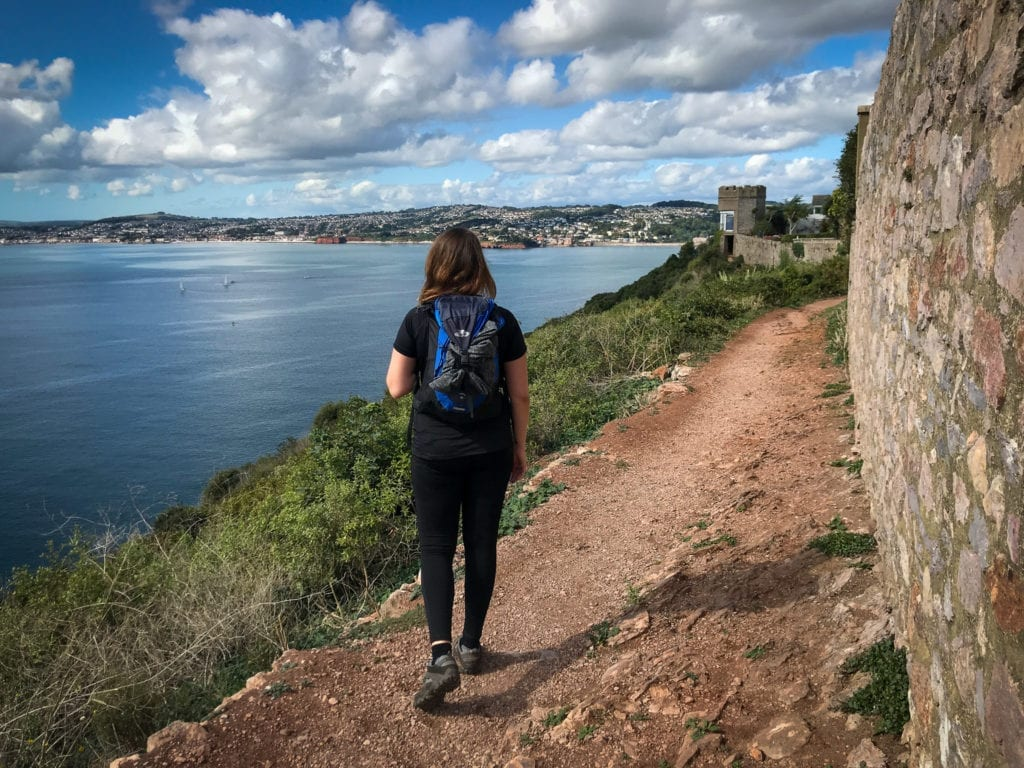 Fern from Absolute Escapes walking to Teignmouth