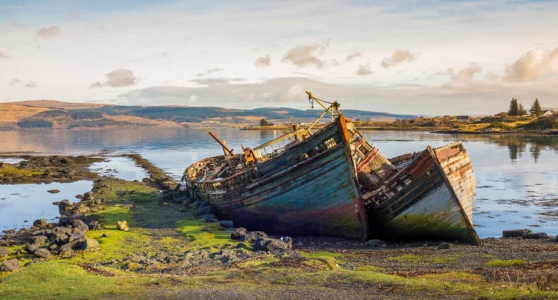 Abandoned ships on the Isle of Mull