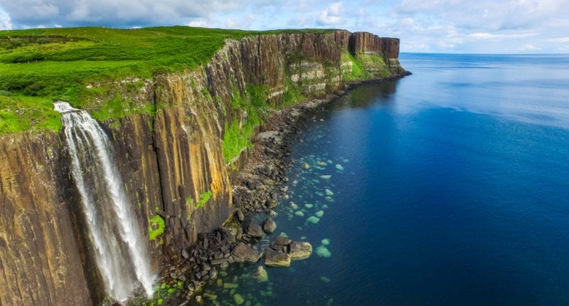 Mealt Falls and Kilt Rock, Isle of Skye