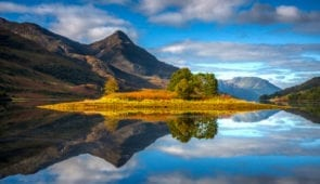 Reflection on Loch Lomond