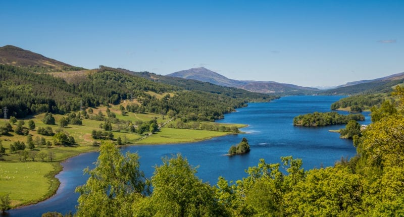 TThe Queen's View in Highland Perthshire