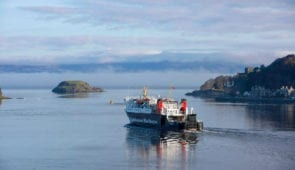 Calmac ferry leaving Oban