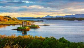 Castle Stalker on Loch Laich