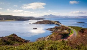The road bridge to the Isle of Skye