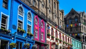 Colourful Victoria Street, Edinburgh