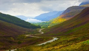 View down Glen Docherty to Loch Maree