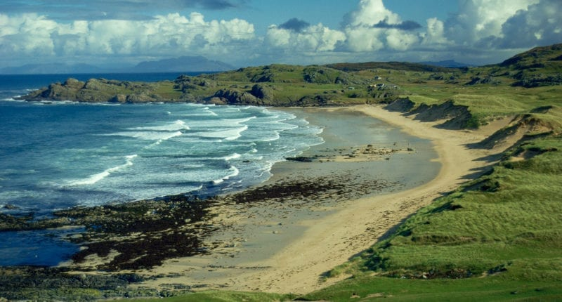 A beach on the Isle of Coll