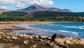 Views of Goat Fell from Brodick