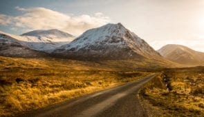 Driving through Glen Etive
