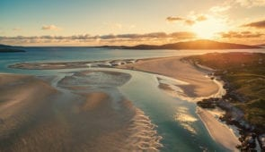 Sunset at Luskentyre Beach