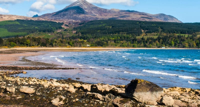 Brodick Bay and Goatfell on the Isle of Arran