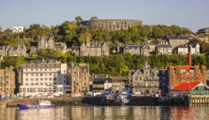 Oban waterfront and McCaig's Tower