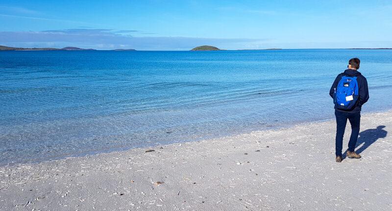 Walking on Eriskay Beach
