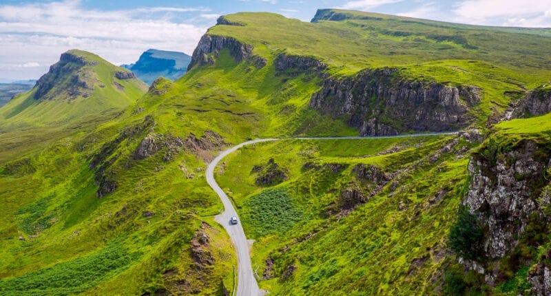 An amazing landscape on the Isle of Skye