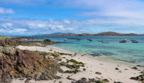 Beautiful beach on the Isle of Iona