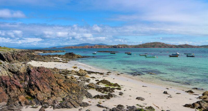 Beautiful beach on the Isle of Iona